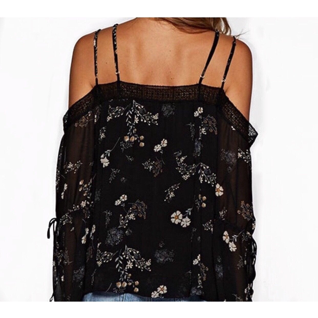 Kelly Strappy Cold Shoulder Top