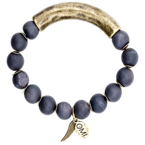Blanca Bracelet Trio Set In Silver by Omi Beads