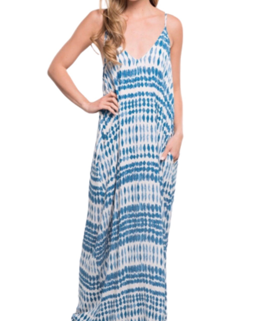 SALE ! Mila Boho Printed Maxi Dress by Lovestitch - Glamco Boutique