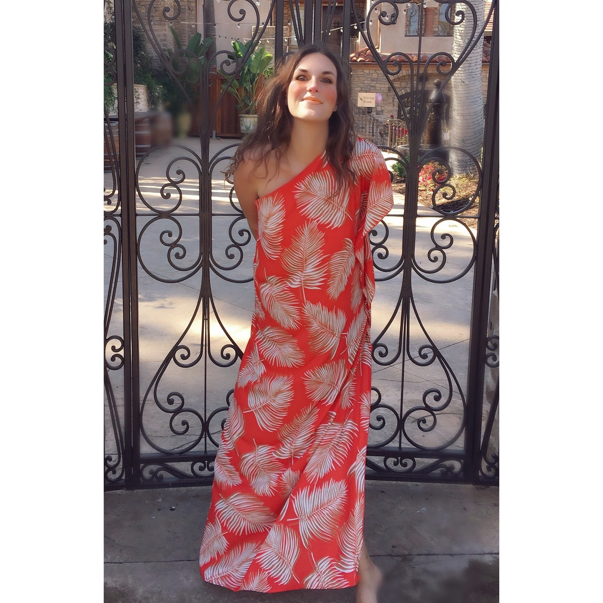 Large-Leaf-Kaftan-Maxi-Dress