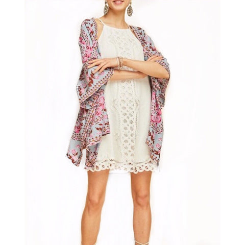 SALE! Bryce Velvet Burnout Split Front Kaftan by Lovestitch