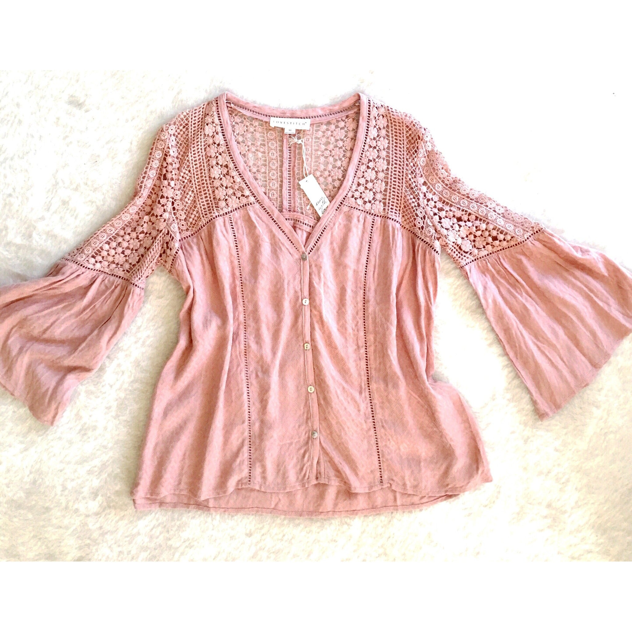Adeline Bohemian Top in Pink Sand by Lovestitch