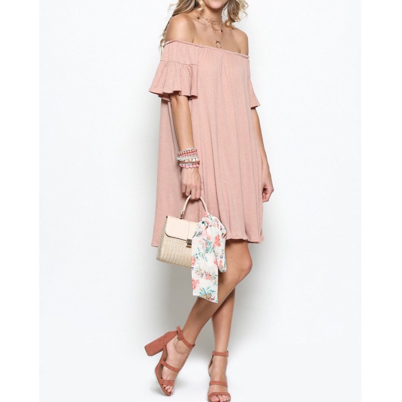 Taylor Off The Shoulder Dress - Glamco Boutique