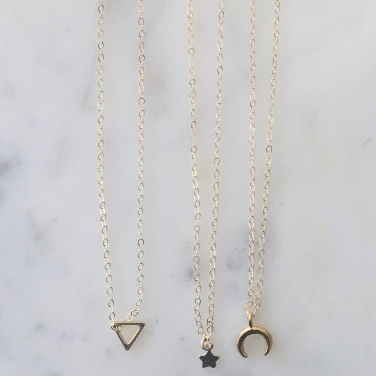 The Tiny Triangle Necklace - Glamco Boutique