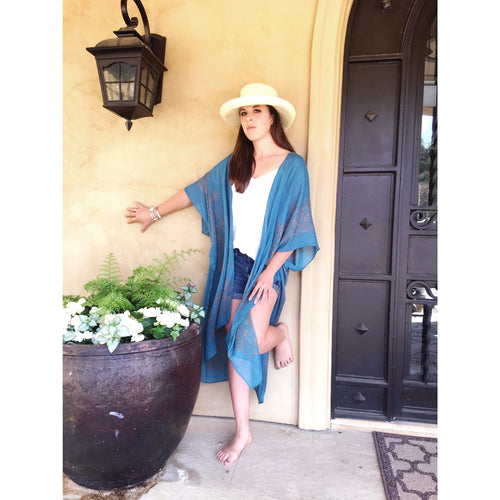SALE ! Ahna  Poolside Kimono Duster by Lovestitch - Glamco Boutique