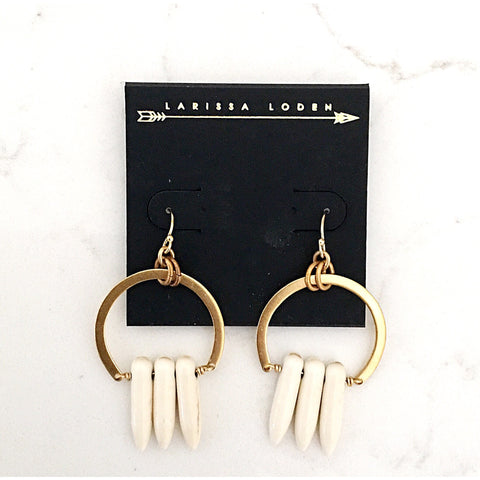 Leila Tortoise Horn Earrings