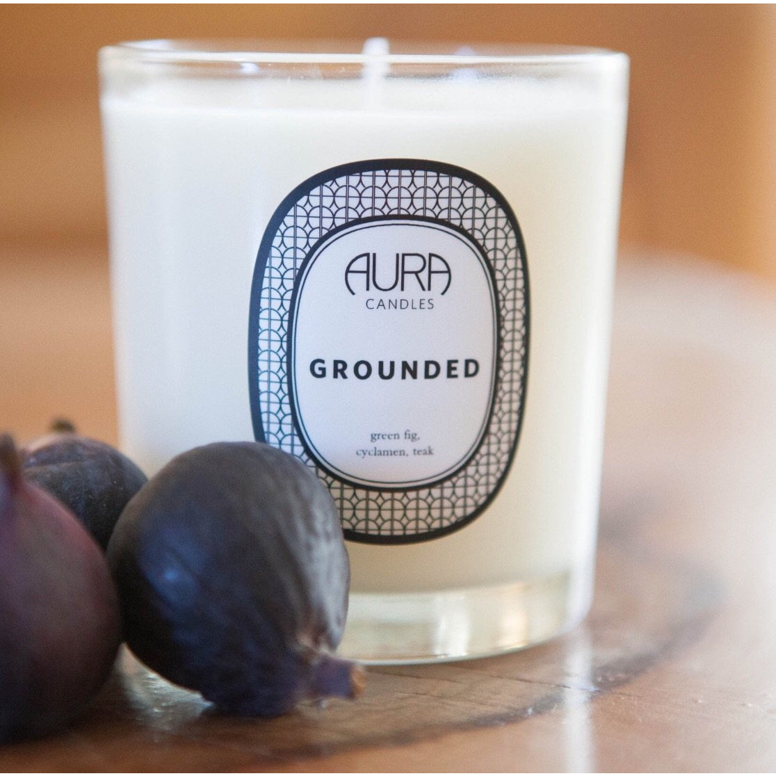 Gree Fig , Cyclamen , Teak Candle by Aura