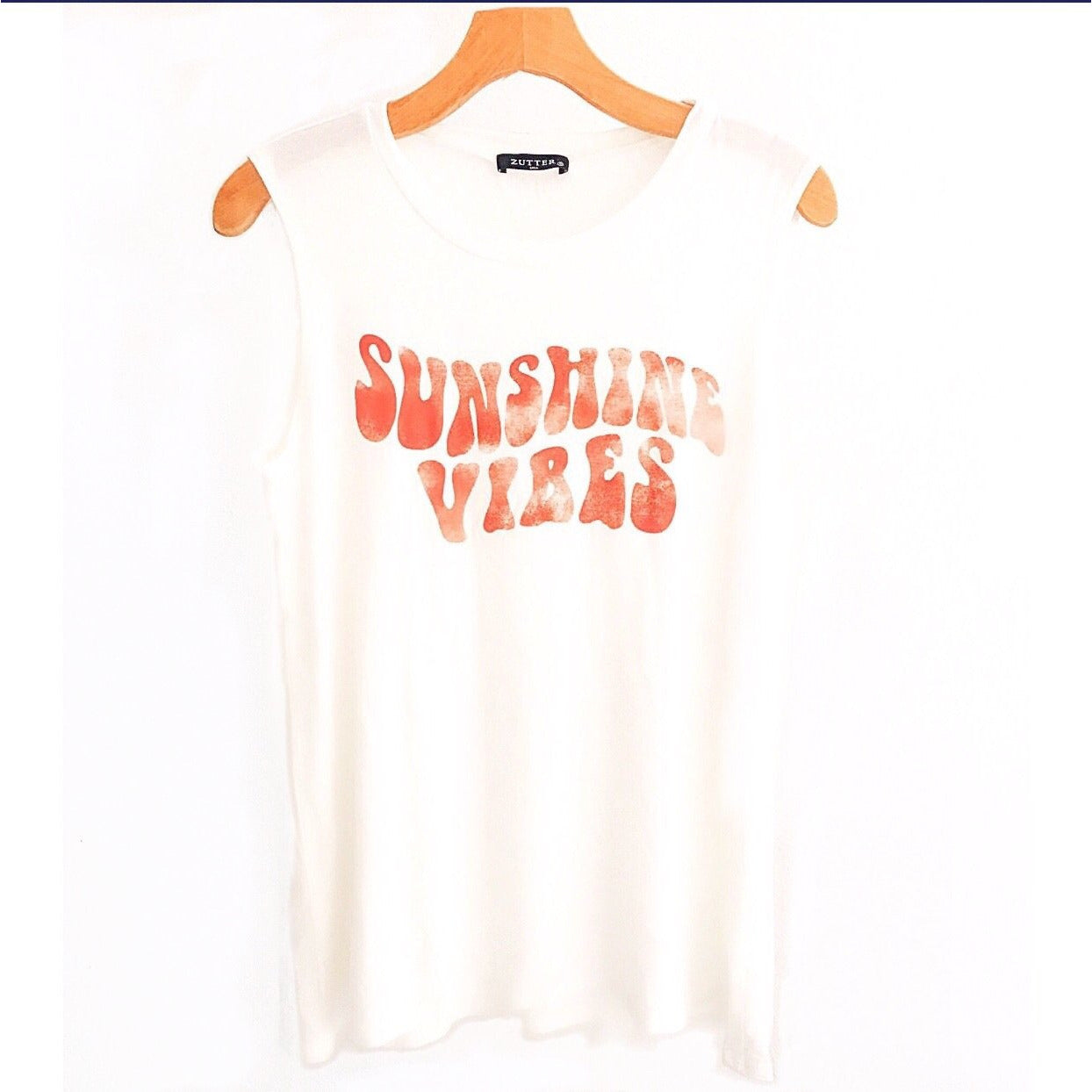 SALE ! Sunshine Vibes Tank T Shirt Top - Glamco Boutique