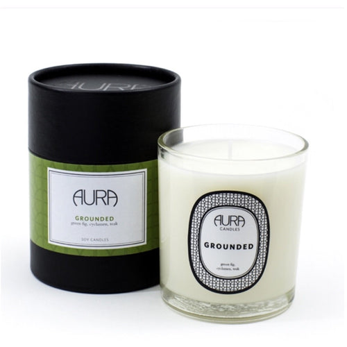 Grounded by Aura Candles in Green Fig , Cyclamen and Teak