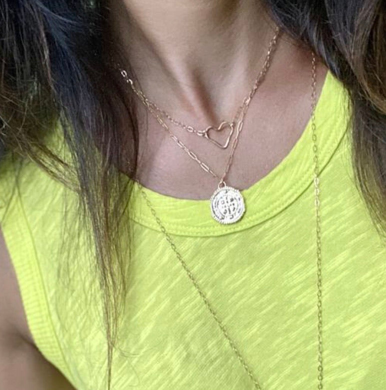 New ! Roma Gold Coin Necklace - Glamco Boutique