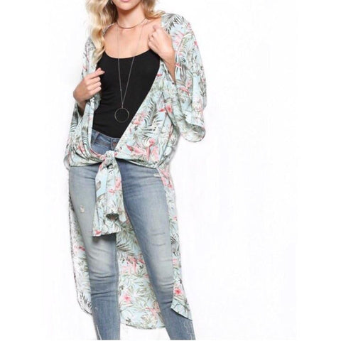 (Sold Out ) Skylar Kimono Cardigan Duster in Blush