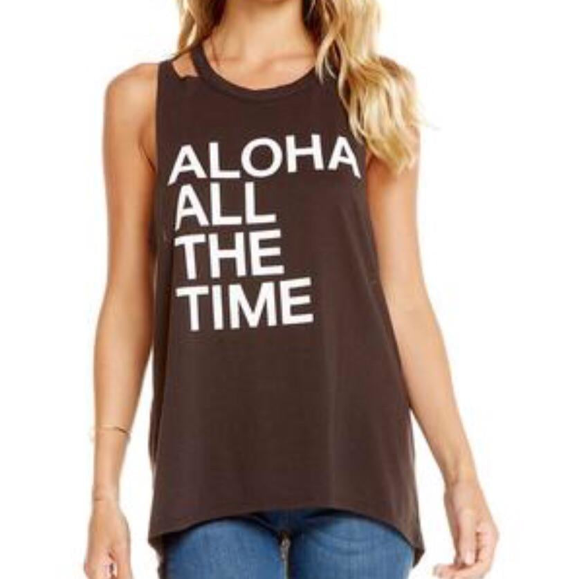 Sold Out  Aloha All The Time T-Shirt Top by Chaser - Glamco Boutique
