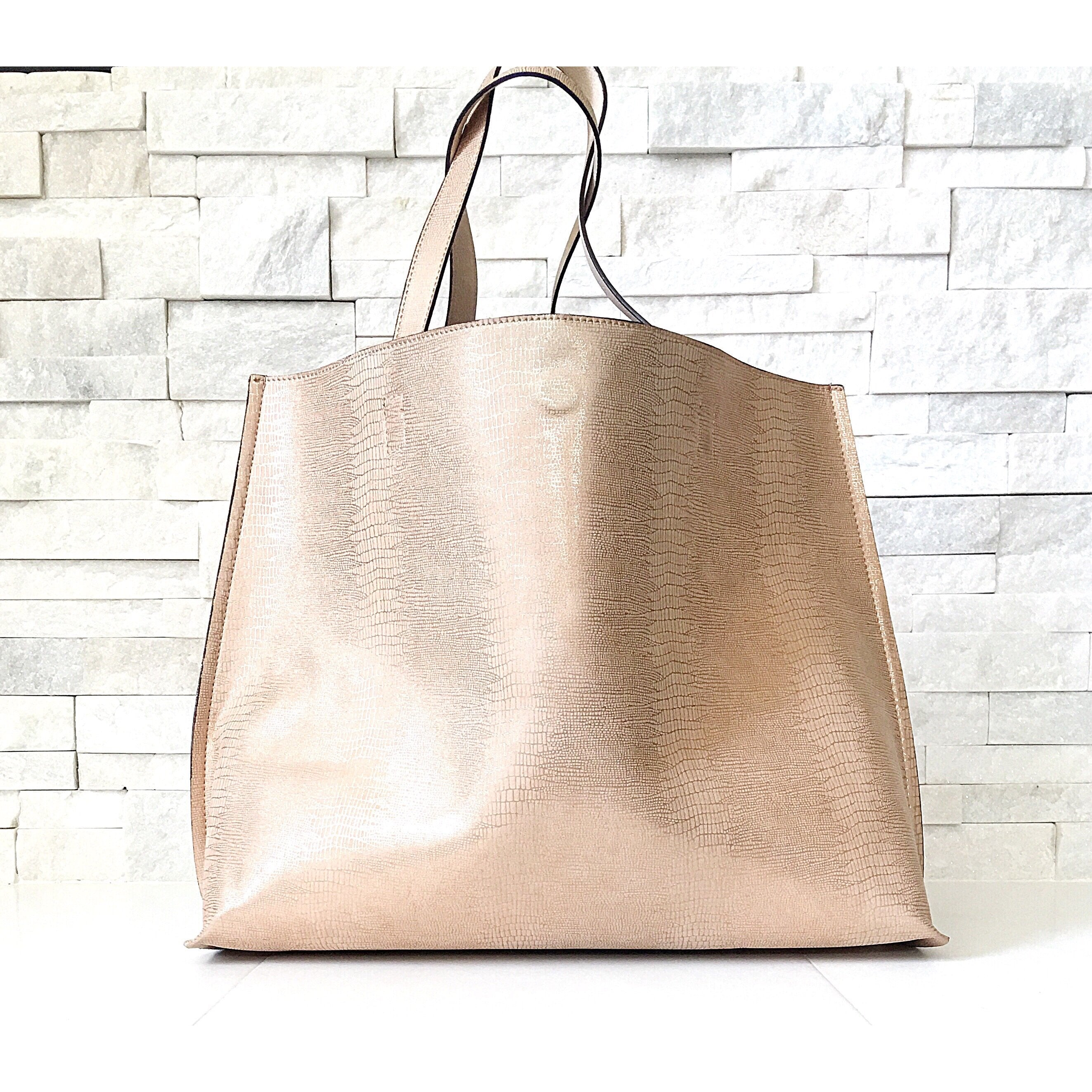 Reversible Tote in Rose Gold by Street Level