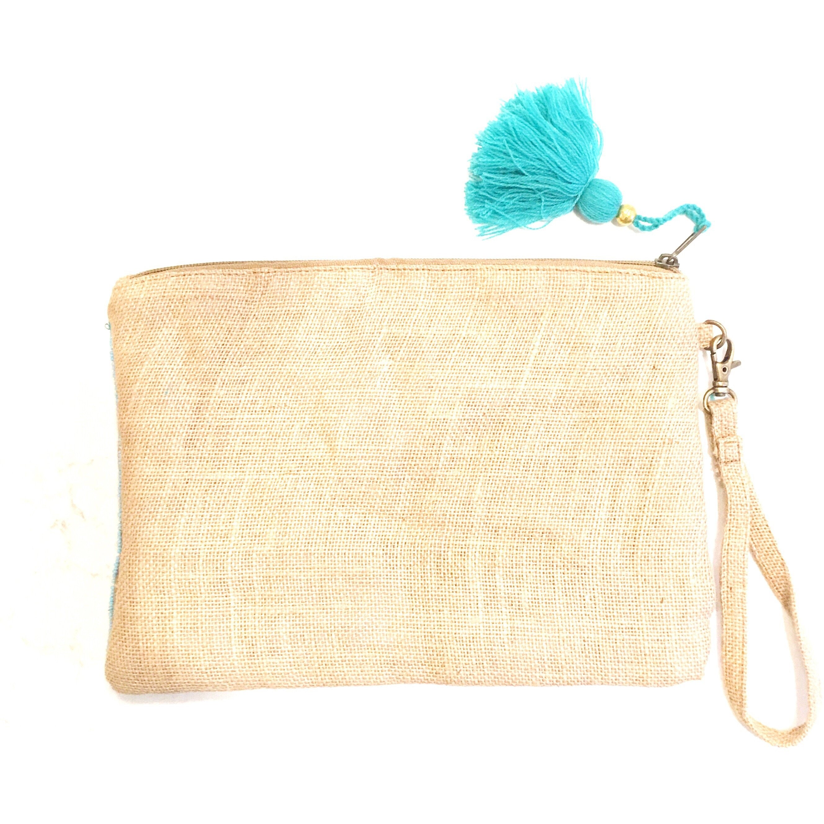 Sale ! Delaney Jute Clutch - Glamco Boutique