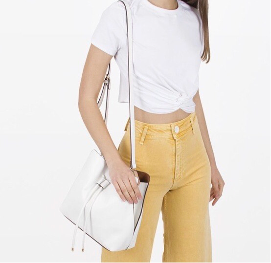 New ! Leia Luxe White Shoulder Style Handbag by Melie Bianco - Glamco Boutique
