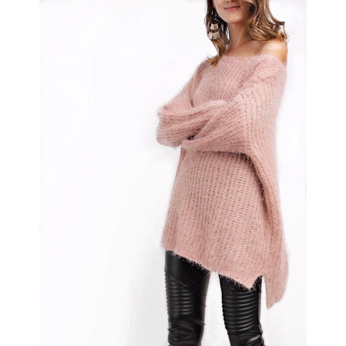Haley  Mohair Sweater in Dusty Mauve , a little oversized and uber soft