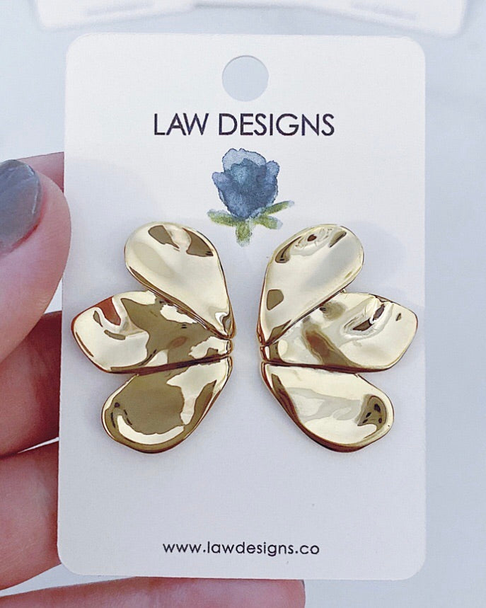 Sold Out ! Fleur Earrings by LAW Designs - Glamco Boutique