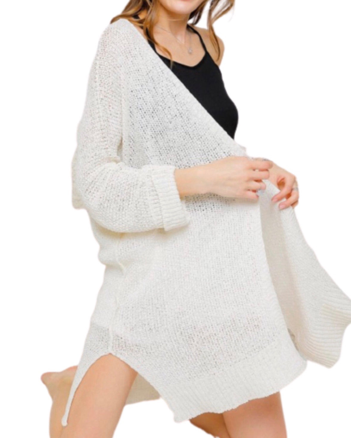 New ! Gigi Lightweight Open Knit Cardigan - Glamco Boutique