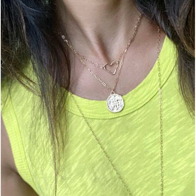 New ! All Heart Floating Gold Filled Necklace - Glamco Boutique
