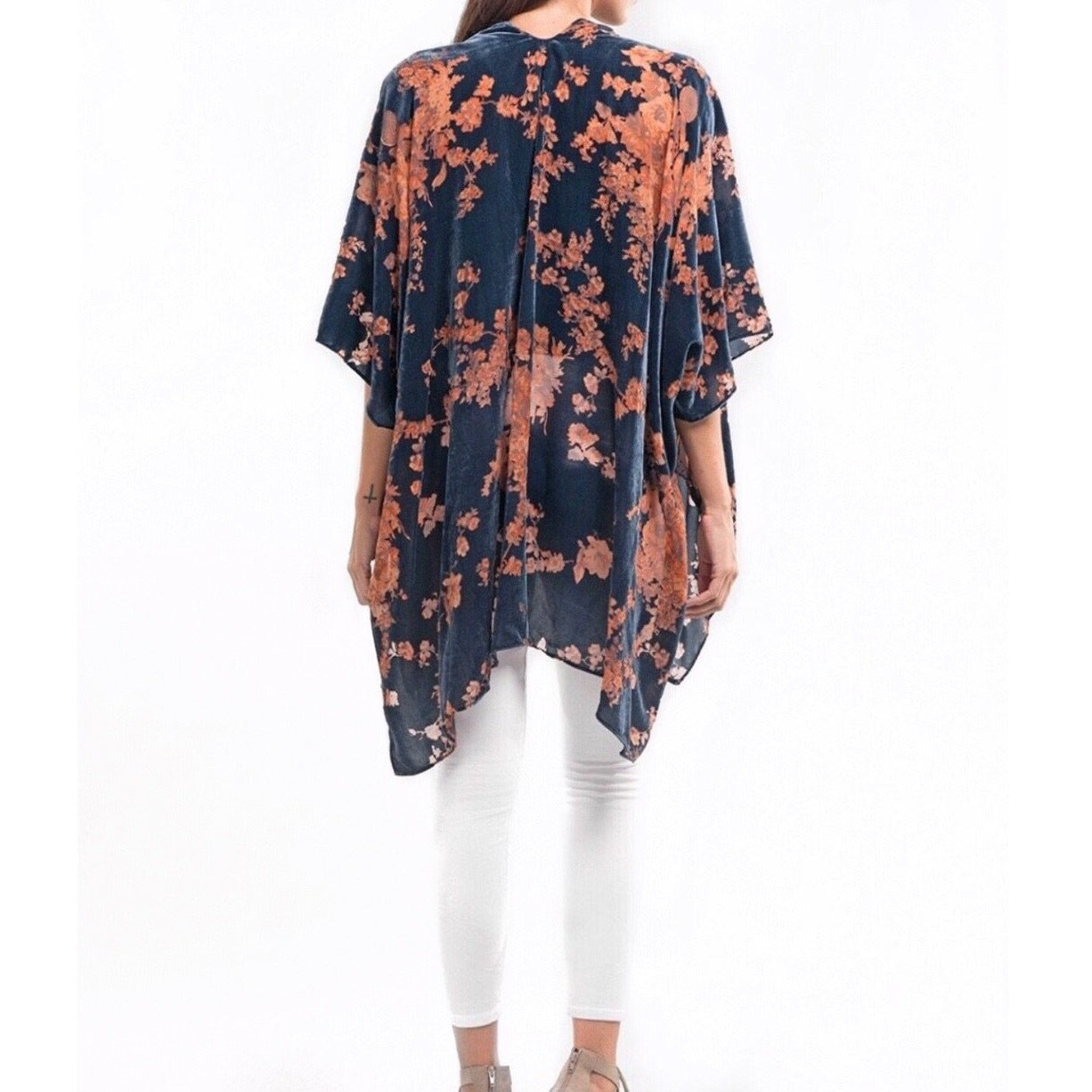 New ! Bryce Velvet Burnout Split Front Kaftan