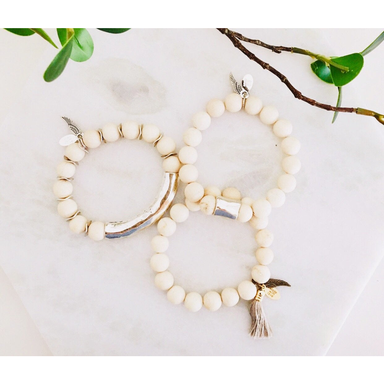 ( Sold Out ) Barletta Stretch Bracelet Set by Omi Beads - Glamco Boutique
