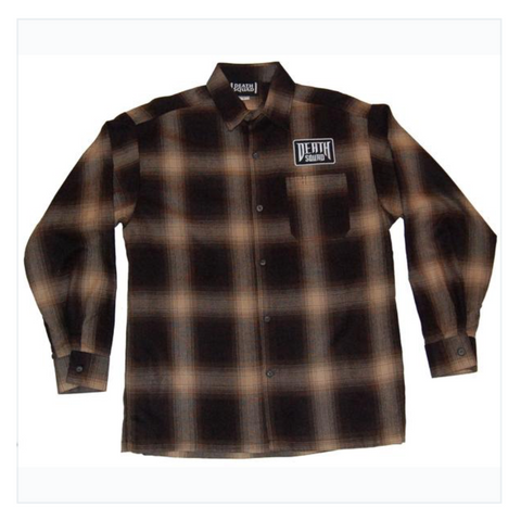 Death Squad Flannel - Black/Ivory or Black and Tan