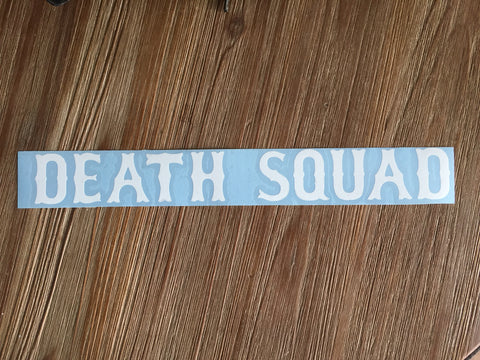 """DEATH SQUAD"" Swing Arm Sticker"
