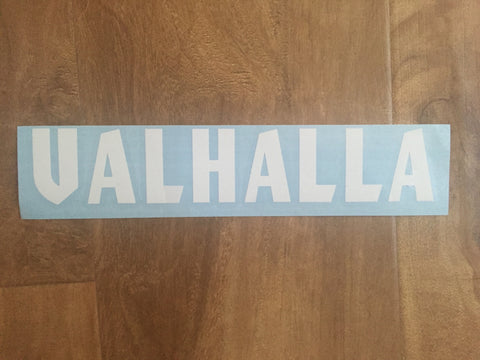 """VALHALLA"" Swing Arm Sticker"