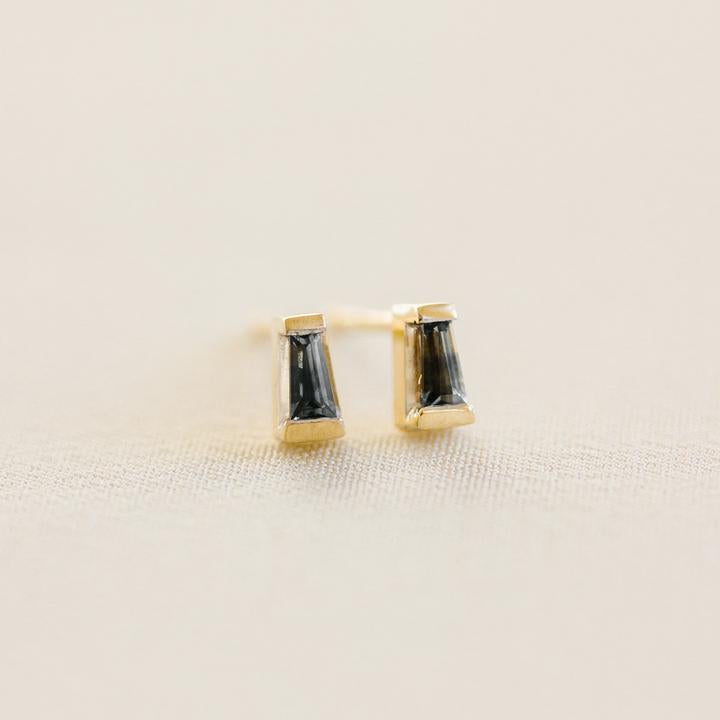 Sapphire Baguette Studs from Evorden Everyday