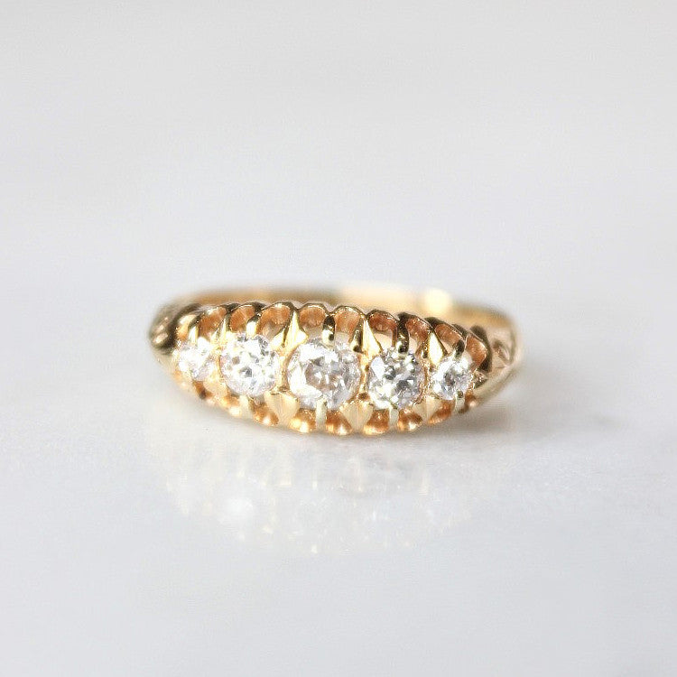 Diamond Cluster Vintage Engagement Ring - The Sedgwick Ring - Evorden