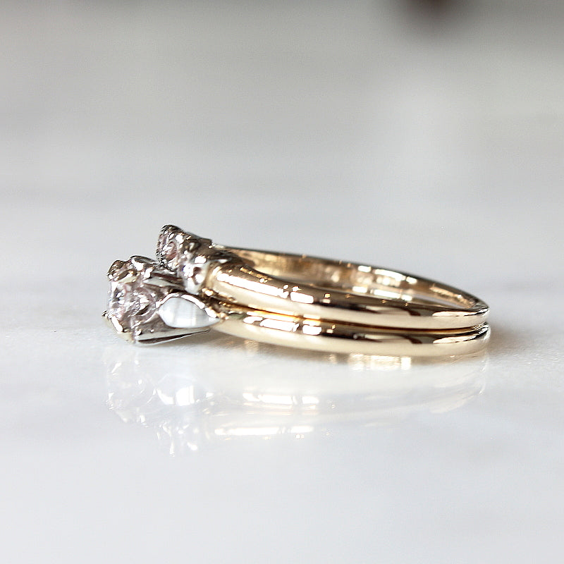 Diamond Solitaire Vintage Ring - The Bacall Ring - Evorden