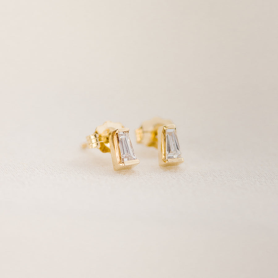 Tapered Baguette Studs