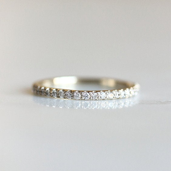 FAE RING, White Gold Diamond Eternity Wedding Band - Evorden