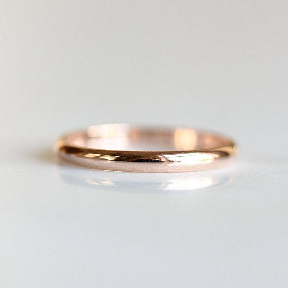 HALF ROUND WEDDING BAND, wedding band - Evorden