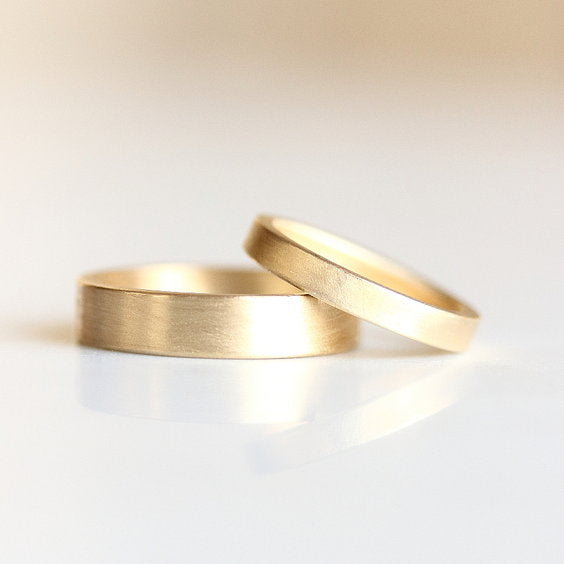 FLAT EDGE WEDDING BAND, wedding band - Evorden