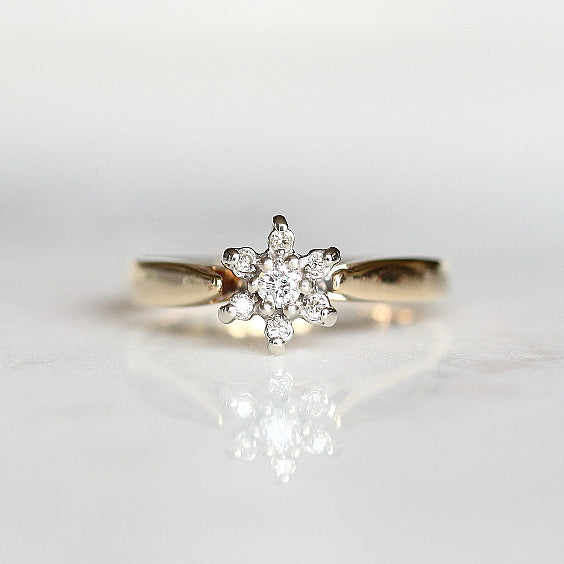 Cluster Vintage Engagement Ring - The Tierney Ring - Evorden
