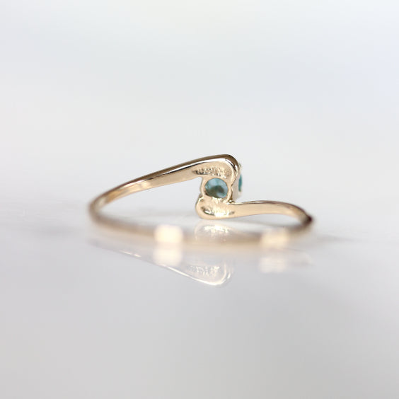 The Winterson Ring- Petite Blue Stone Vintage Ring- EVORDEN