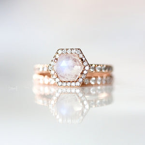 ONDINE BAND- Rose Gold Diamond Eternity Band- EVORDEN