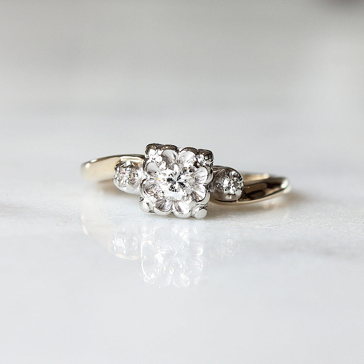 Vintage Diamond Engagement Ring - The Johansson Ring - Evorden