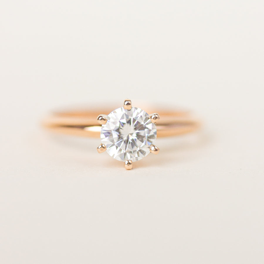 Six-Prong Solitaire Rose Gold Engagement Ring