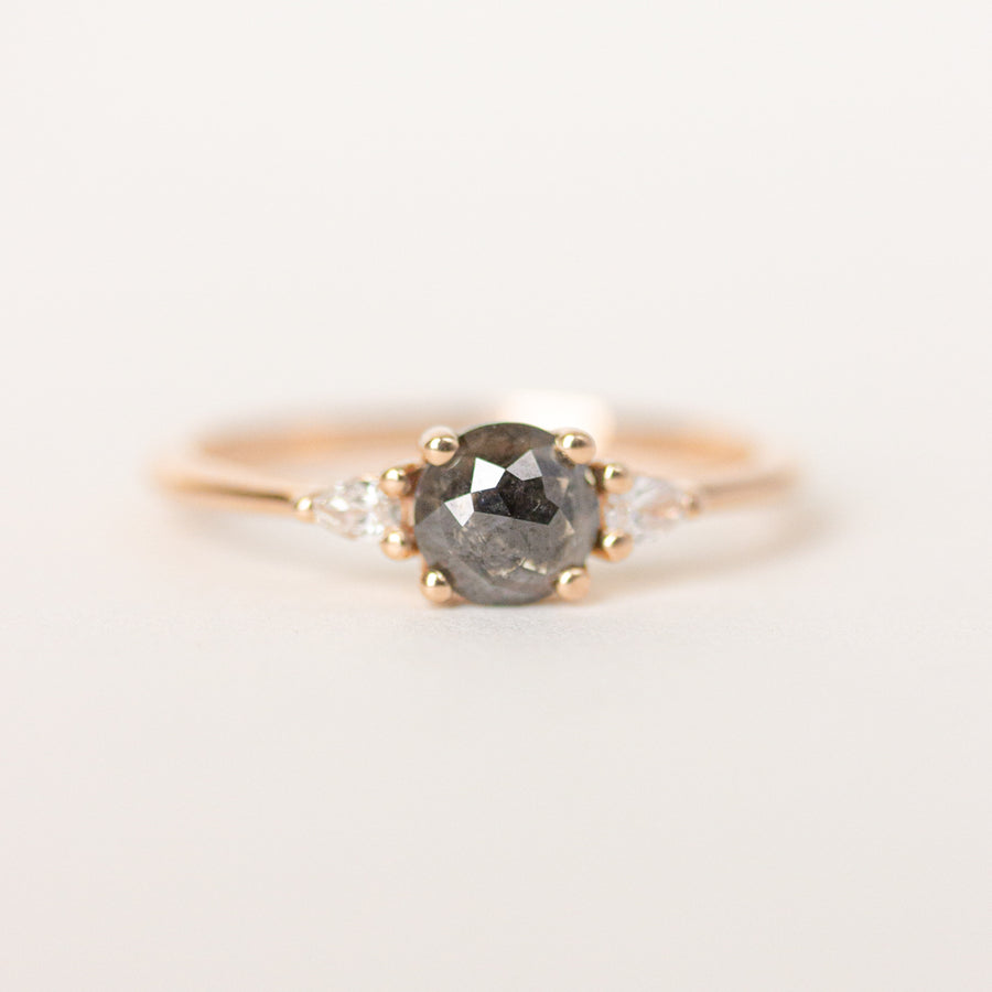 Salt and Pepper Black Diamond Engagement Ring