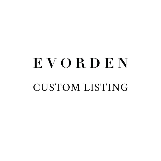 Custom Listing for / TEMPLATE,  - Evorden