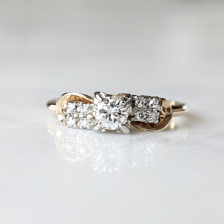 Vintage Diamond Engagement Ring - The Kahlo Ring - Evorden