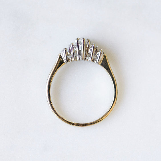 The Teigen Ring- Vintage Marquise Five Stone Ring- EVORDEN