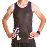 Running Vest Black and Purple