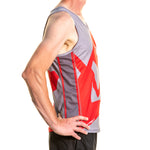 Running Vest Red and Grey
