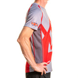 Short Sleeve T shirt Grey and Red
