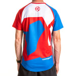 Short Sleeve T shirt Blue White and Red