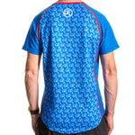 Short Sleeve T shirt Blue Small Print