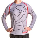 Youth Long Sleeve T shirt Outline Grey